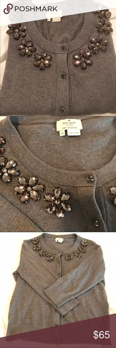 Kate Spade Jewel Sweater (sale this week) Kate Spade Jewel sweater. In great condition gently used. Could use a dry cleaning. This is the most expensive item in my closet because of condition of sweater. I will negotiate a fair price. (On sale this week) kate spade Sweaters Cardigans
