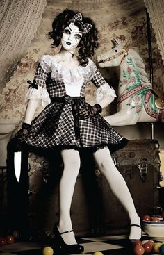 If you're searching for creepy Halloween costume suggestions, here are a few of the most popular Halloween outfits of all time. Pretty Creepy Porcelain Doll Costume from Leg Avenue. #CreepyHalloweenCostumes #HalloweenNails #31stOctober #Halloweenoutfits