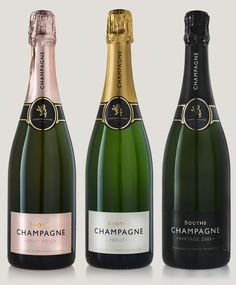 Champagne range for Booths by smithandvillage.com