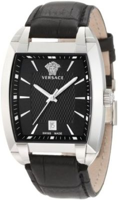 Versace Men's Black Dial Watch