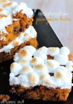 Marshmallow Pumpkin Bars from Six Sisters' Stuff