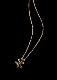 H.Stern Snowflakes pendant in 18K Noble Gold with cognac diamonds #HStern