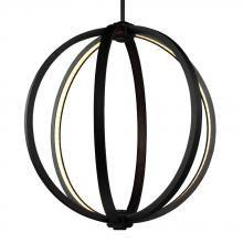 "Feiss P1392ORB - 20"" LED Globe Pendant http://lightingspecialists.com/"