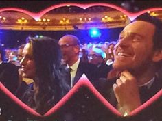 Eddie and Rebel Wilson on Kiss Cam at BAFTA 2016