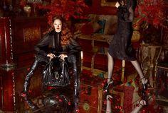 Gucci Fall/Winter 2012-2013 by Mert & Marcus features models Karmen Pedaru, Nadja Bender and Lenz Von Johnston