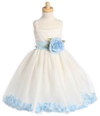 Flower Girl Dress Style BL207- Petal Dress- Choice of Color- BUILD YOUR OWN DRESS!