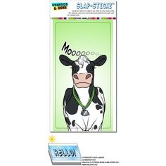 Cow - Black and White Cattle Milk Farm Moo Slap-Stickz(TM) Premium Sticker