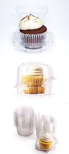 Individual Cupcake Holders. Individual Plastic Cupcake Boxes | Set of 48 Clear Plastic Dome Single Compartment Cupcake Holders With Improved Closing Mechanism ….  #individual #cupcake #holders #individualcupcake #cupcakeholders