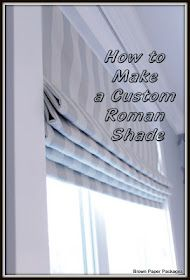 Cortinas romanas tutorial Brown Paper Packages: How To Make Custom Roman Shades Diy Roman Shades, Custom Roman Shades, Diy Roman Blinds, Roman Shades Kitchen, Blinds Diy, Mini Blinds, Paper Blinds, Privacy Blinds, Blinds Ideas