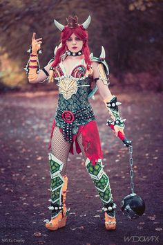 Female Bowser from Super Mario Cosplay http://geekxgirls.com/article.php?ID=9544