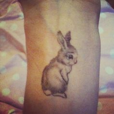 Cute bunny rabbit tattoo | Has real meaning for me | Love it