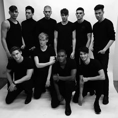 The few men of @qmodels taking on #nyfw this year. #allblackeverything