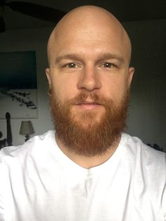 Shaved Head With Beard, Shaved Heads, Bald Men With Beards, Bald With Beard, Bald Heads, Epic Beard, 5 Months, Silent Film, White Man