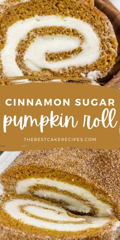 Rolled and sprinkled this Cinnamon Sugar Pumpkin Roll is the perfect fall baking recipe to have in your arsenal this season!