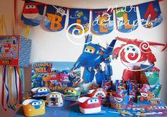 MAR DE PAPEL: Los 4 años de Biel: llegaron los SuperWings!!!!