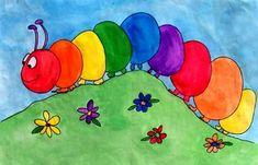 Lesson - Rainbow Caterpillar Art Lesson - Rainbow Caterpillar Drawing Ideas drawing ideas for kidsArt Lesson - Rainbow Caterpillar Drawing Ideas drawing ideas for kids