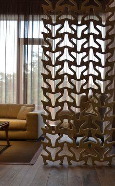 Pannello con effetti tridimensionali ARABESQUE by 3D Surface | design Jacopo Cecchi, Romano Zenoni