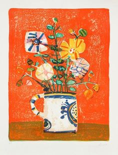 """""""Bouquet de fleurs"""" by Paul Aizpiri (French, b. 1919)"""