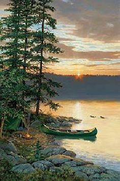 Persis Clayton Weirs Summer Sunrise - Loon
