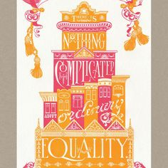 PROP CAKE Original letterpress poster featuring quote by feminist Alice Paul. $30.00, via Etsy.
