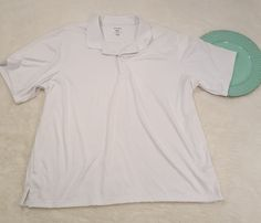 Mens George White Stretch Knit Polo Shirt Size 3XL #672   Clothing, Shoes & Accessories, Men's Clothing, Casual Shirts   eBay!