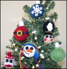 Crimas+crochet | Crochet Christmas ornaments are a fun and festive way to decorate for ...