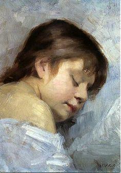 Sleeping Italian Girl - Maria Wiik (1853 – 1928, Finnish)
