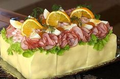 Have I died and gone to heaven? God bless the… Sandwiches, Sandwich Cake, Sandwich Recipes, Salad Cake, Open Faced Sandwich, Cake Shapes, Appetizers For Party, Party Appetisers, Small Plates