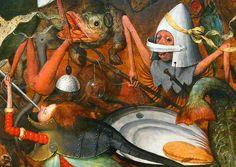 Pieter Bruegel the Elder (ca 1525-1569), The Fall of the Rebel Angels, 1562, detail, oil on oak