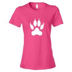 Lion Paw Print Women's short sleeve tee