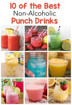10 of the Best Non-Alcoholic Punch Drinks on TheHowToCrew.com                                                                                                                                                                                 More