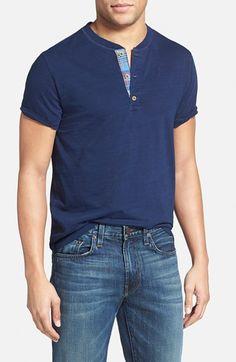 Men's Tailor Vintage Cotton Short Sleeve Henley