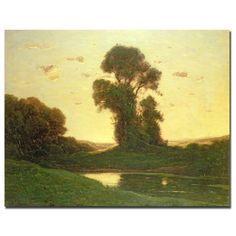 View in the Campagna by Henri-Joseph Harpignies Painting Print on Wrapped Canvas