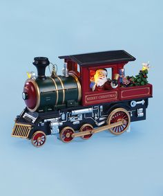 Santa's Locomotive Music Box from TheHolidayBarn.com