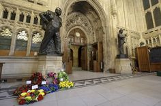 Churchill wreath laying in Parliament