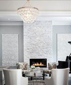 Steinwand im Wohnzimmer für eine gehobene und stilvolle Einrichtung
