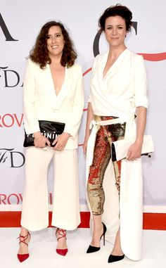 Clare Vivier & Garance Dore from 2015 CFDA Fashion Awards: Red Carpet Arrivals