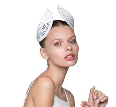 Thea Crown White « STUDIO ANISS - Be a symbol of grace as you hit the town this spring. Thea Crown by Studio ANISS is a new concept in millinery. Laser cut leather olive branch crown can be dressed up or down. 100% Leather #studioaniss #allergic2ordinary #melbournecup #melbcup #emiratesmelbournecup #oaksday #crownsday #stakesday #caulfieldcup #crowns #tiara #fascinator #fashion #style #springracing #springfashion #springracingcarnival #headpieces #hairaccessories #aniss #hats #bridal
