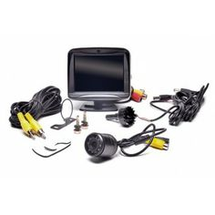 "Car Camera System Model # RVS- 770617N. Complete with a color 3.5"" LCD monitor 120° CMD camera with night vision and all the wires, connectors and mounts you will need. The system is weather proof, strong and reliable, shock resistant and comes with a full year warranty. Model # RVS 770617N $109.99"