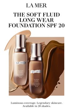 Give your skin a gorgeous, natural-looking finish with the buildable coverage of The Soft Fluid Long Wear Foundation SPF Available in 28 shades. Makeup Tips, Beauty Makeup, Hair Beauty, Dark Skin Makeup, Face Makeup, La Mer Foundation, Wow Products, Face Products, Beauty Makeover