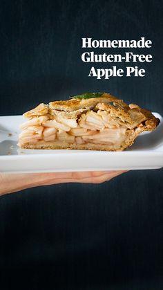 Gluten Free Lemon Cake, Gluten Free Apple Pie, Gluten Free Deserts, Gluten Free Sweets, Gluten Free Baking, Vegan Desserts, Gluten Free Recipes, Pie Crust Recipes, Pie Crusts