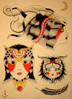 Princess Tiger Lily is jealous. Hand Art Henna, Old School Sleeve, Sailor Jerry Tattoos, Old School Tattoo Designs, Traditional Tattoo Art, Fun Tattoo, Tattoo Ideas, Tattoo Pics, Tattoo Flash