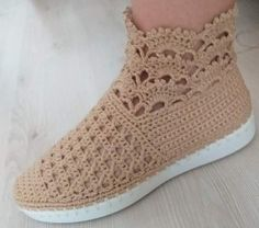 Crochet Boots, Slippers, Sneakers, Shoes, Fashion, Tights, Crocheting, Party, Booties Crochet
