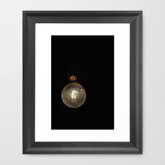 Vintage Lightbulb Framed Art Print