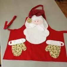 Delantal Christmas Projects, Diy And Crafts, Christmas Crafts, Christmas Decorations, Christmas Ornaments, Christmas Aprons, Christmas Sewing, Felt Christmas, Sewing Crafts