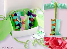 Sweet fragrant sachets tutorial.  Perfect Mother's Day gift for the woman who has everything.