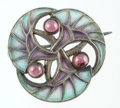 Art Nouveau Plique a Jour pin  Levinger & Bissinger  Circa 1900