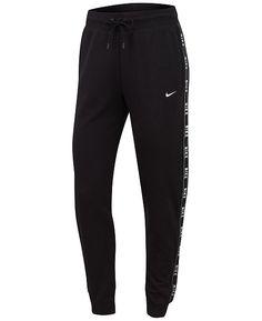 Nike Sportswear Logo Joggers – Pants & Capris – Women – Macy's Nike Sweatpants Girls, Cute Sweatpants Outfit, Cute Pants, Joggers Womens, Black Nike Joggers, Vs Pink Sweatpants, Adidas Joggers, Cute Lazy Outfits, Vintage Clothing