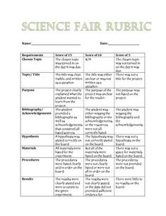 Image result for science fair project rubric science pinterest this is a grading rubric for the science fair it includes all the usual requirements ccuart Gallery