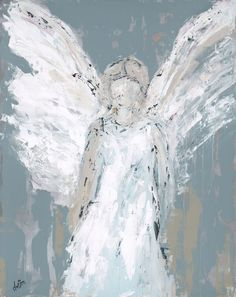 Vintage French Soul ~ Angel Watching Over You - Fine Art by Deann Angel Artwork, Angel Paintings, Art Paintings, Angels Among Us, Contemporary Abstract Art, Painting Inspiration, Art Projects, Canvas Art, Fine Art